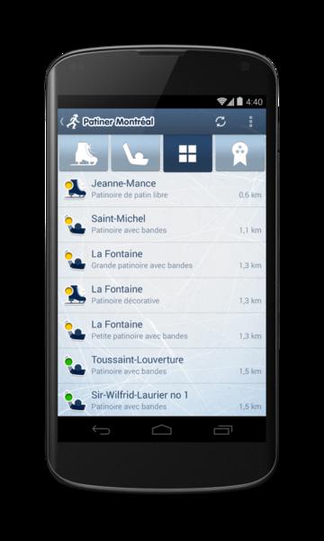 Patiner Montréal pour Android - 2 / 9